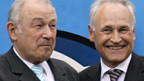 Bayerns Ministerpräsident Beckstein (l) und CSU-Chef Huber.