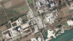 Nordkoreas umstrittene Atomanlage Yongbyon aus der Luft.
