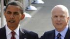 Barack Obama und John McCain.