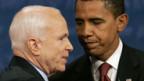 John McCain und Barack Obama nach der Debatte.