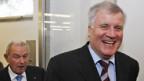 Günter Beckstein (li) und Horst Seehofer nach der CSU-Fraktionssitzung.