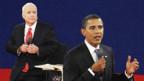 Beim zweiten TV-Duell stellten sich Obama und McCain Fragen aus dem Publikum.