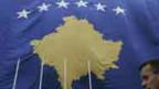 Die neue Fahne Kosovos.