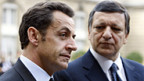 EU-Ratspräsident Sarkozy und EU-Kommissionspräsiden Barroso.