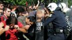 Zusammenstoss zwischen Demonstranten und Polizei in Athen
