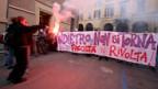 Studenten protestieren gegen die Reform des Schulsystems.