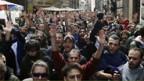 Proteste von Studenten in Rom.