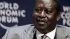 Raila Odinga am Wirtschaftsforum in Kapstadt.