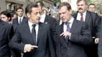 Sarkozy (li) und Medwedew wollen Beziehungen verbessern.
