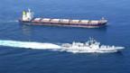 Die indische Fregatte «INS Tabar» patrouilliert im Golf von Aden.