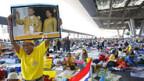 Blockade des Flughafens von Bangkok geht weiter.