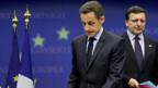 Sarkozy (l.) und Barroso verkünden den Klimakompromiss.