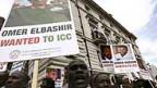 Proteste vor der sudanesischen Botschaft in London.