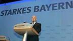 Bayerns Ministerpräsident Guenther Beckstein gibt sich selbstbewusst und kämpferisch.