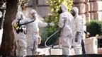Spezialkräfte beim Einsatz gegen den Milzbranderreger in Washington (Archiv 2001)