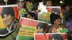 Supporter des bolivianischen Staatschefs Evo Morales.