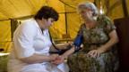 Schwierige Arbeit für die Helfer - hier im südrussischen Lager Alagir.