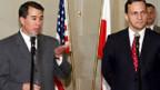 US-Chefunterhändler John Rood u. Polens Aussenminister Radoslaw Sikorski.