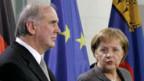 Otmar Hasler und Angela Merkel.