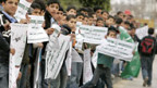 Protest gegen die Blockade im Gazastreifen.
