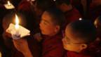 Tibetische Mönche in Indien.