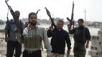 Bewaffnet und entschlossen:Kämpfer in Basra.