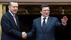 Recep Tayyip Erdogan (l.) und José Manuel Barroso.