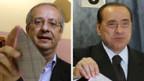 Berlusconi (re) und sein Herausforderer Veltroni.
