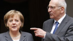 Angela Merkel (l.) und Pascal Couchepin in Bern.