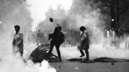 Strassenschlacht in Paris am 3. Mai 1968.
