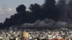 Rauch über Gaza.
