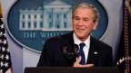 George W. Bush an seiner letzten Pressekonferenz als US-Präsident.