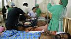 Bei den Gefechten in Sri Lanka wurden viele Zivilisten verletzt.