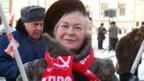 Demonstration der Kommunisten in Moskau