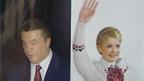 Wahlplakate in der Ukraine.