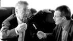Österreichs Bundespräsident Heinz Fischer (links) im Gespräch mit DRS Korrespondent Joe Schelbert.