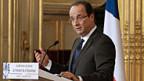 Frankreichs Präsident François Hollande an der Medienkonferenz am 13. November im Elyséepalast in Paris.