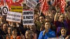 In Spanien wird fast täglich irgendwo gegen die Sparprogramme demonstriert.