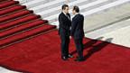 François Hollande übernimmt das Präsidentenamt von seinem Vorgänger Nicolas Sarkozy