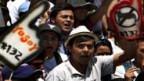 Demonstrierende Studenten in Mexiko