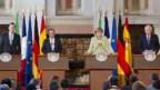 Rajoy, Holland, Merkel und Monti am Vierergipfel