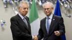Mario Monti und Herman Van Rompuy am EU-Gipfel