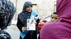 Wahlkampf in Libyen - eine Kandidatin der libyschen Muslimbruderschaft