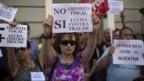 SpanierInnen protestieren am 13. Juli in Madrid gegen das Sparpaket