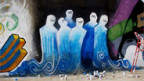 Graffiti von Shamsia Hassani in Kabul.