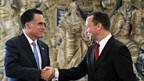 Letzte Station von Romneys Europareise: Treffen mit Polens Aussenminister Sikorski