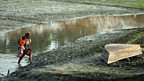 Austrocknender Fluss in Bangladesh