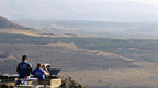 Blick von den Golanhöhen in Richtung Syrien
