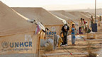 Flüchtlingslager an der jordanisch-syrischen Grenze