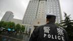 Volksgerichtshof in der Stadt Hefei, wo der Mordprozess gegen Gu Kailai stattfinder